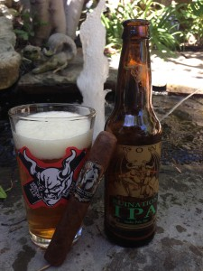 Ruination Cigar and IPA